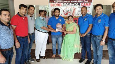 Photo of पालिकाध्यक्ष अंजू अग्रवाल ने राउंड टेबल द्वारा आयोजित ब्लड कैंप का उद्घाटन