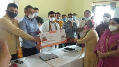 Photo of जिला पंचायत अध्यक्ष डॉ वीरपाल निर्वाल  ने आयुष्मान भारत दिवस' की तृतीय वर्षगांठ कार्यक्रम का किया शुभारंभ